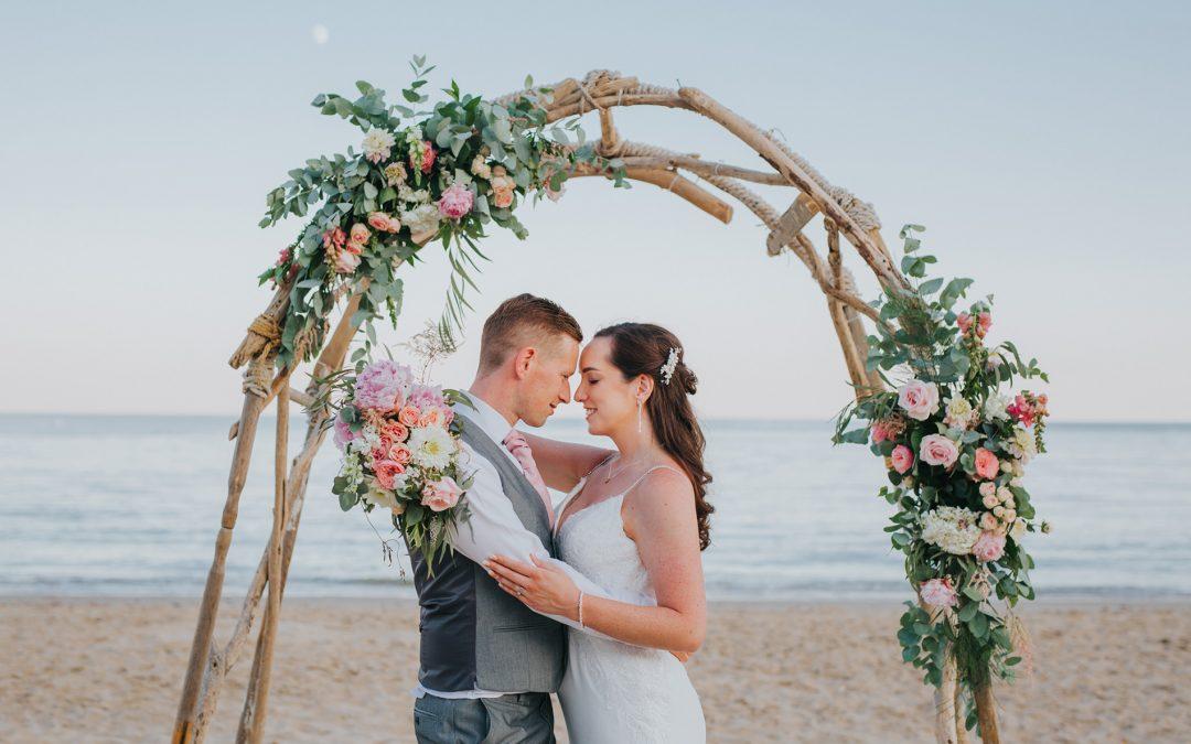 Charlie & Ryan ~ Beach Weddings Bournemouth Wedding