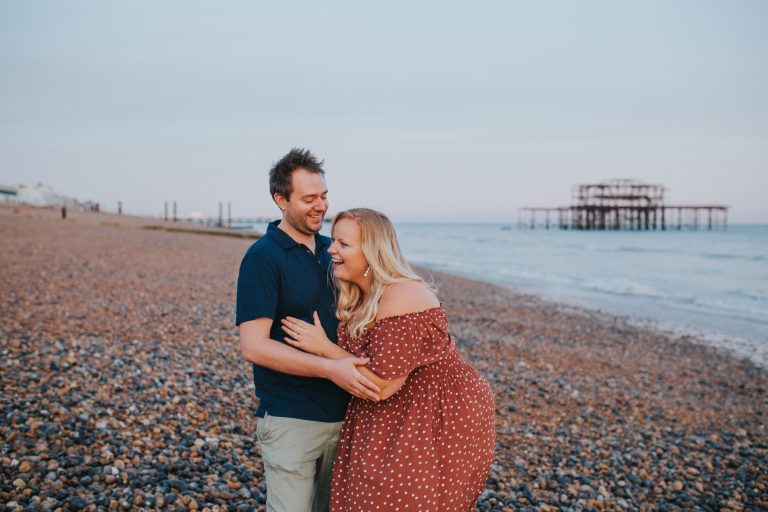 Ella & Tom ~ Brighton Beach Couple Shoot