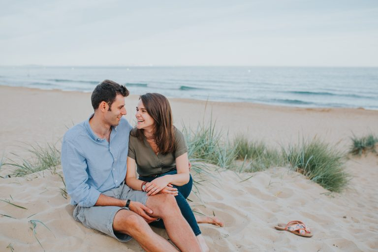 Summer Evenings At The Beach ~ Lydia & Sam Couple Shoot