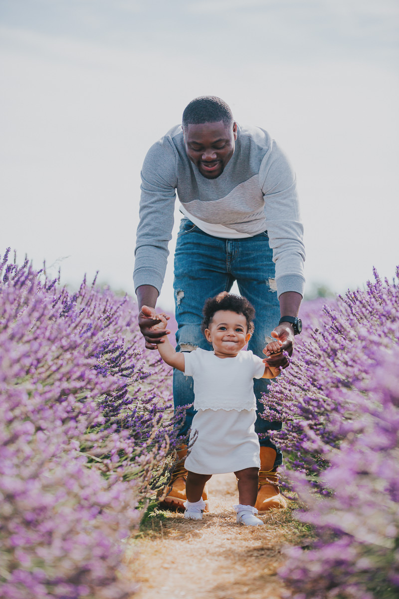 father daughter lavender field family photo