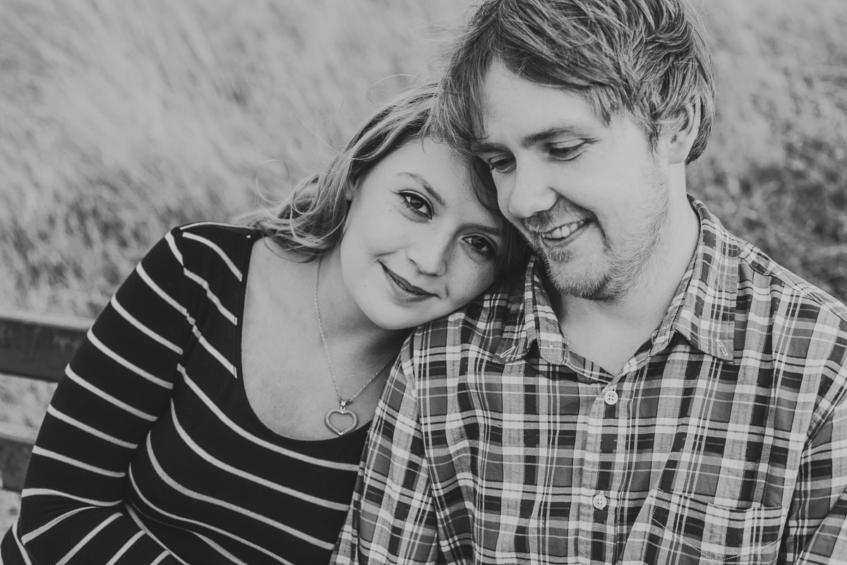 black and white couple photo
