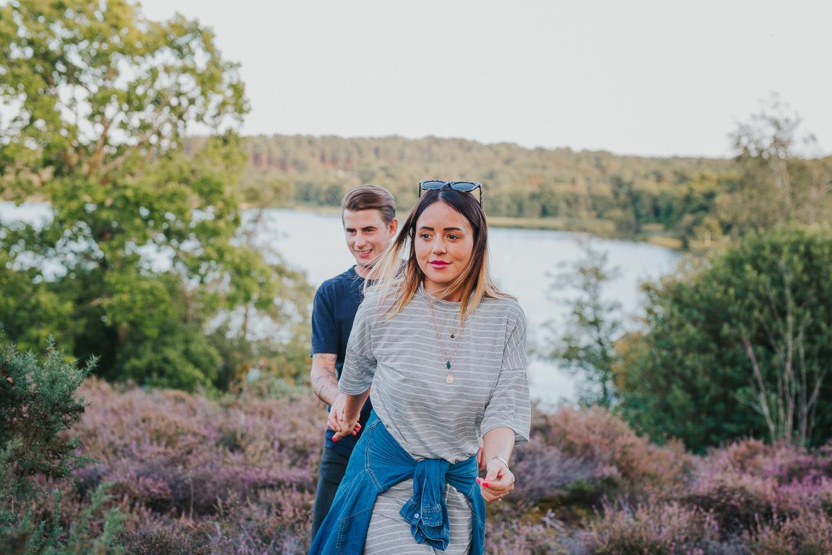 couple photo walking holding hands