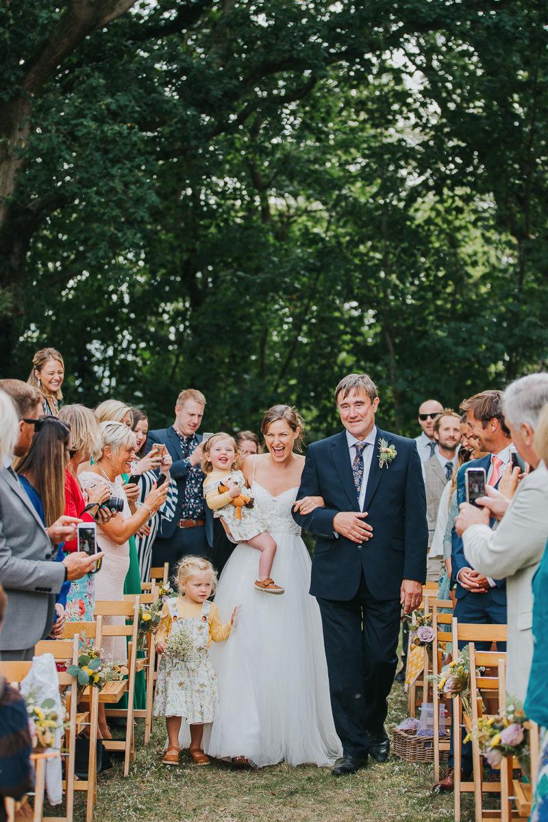 humanist outdoor wedding ceremony