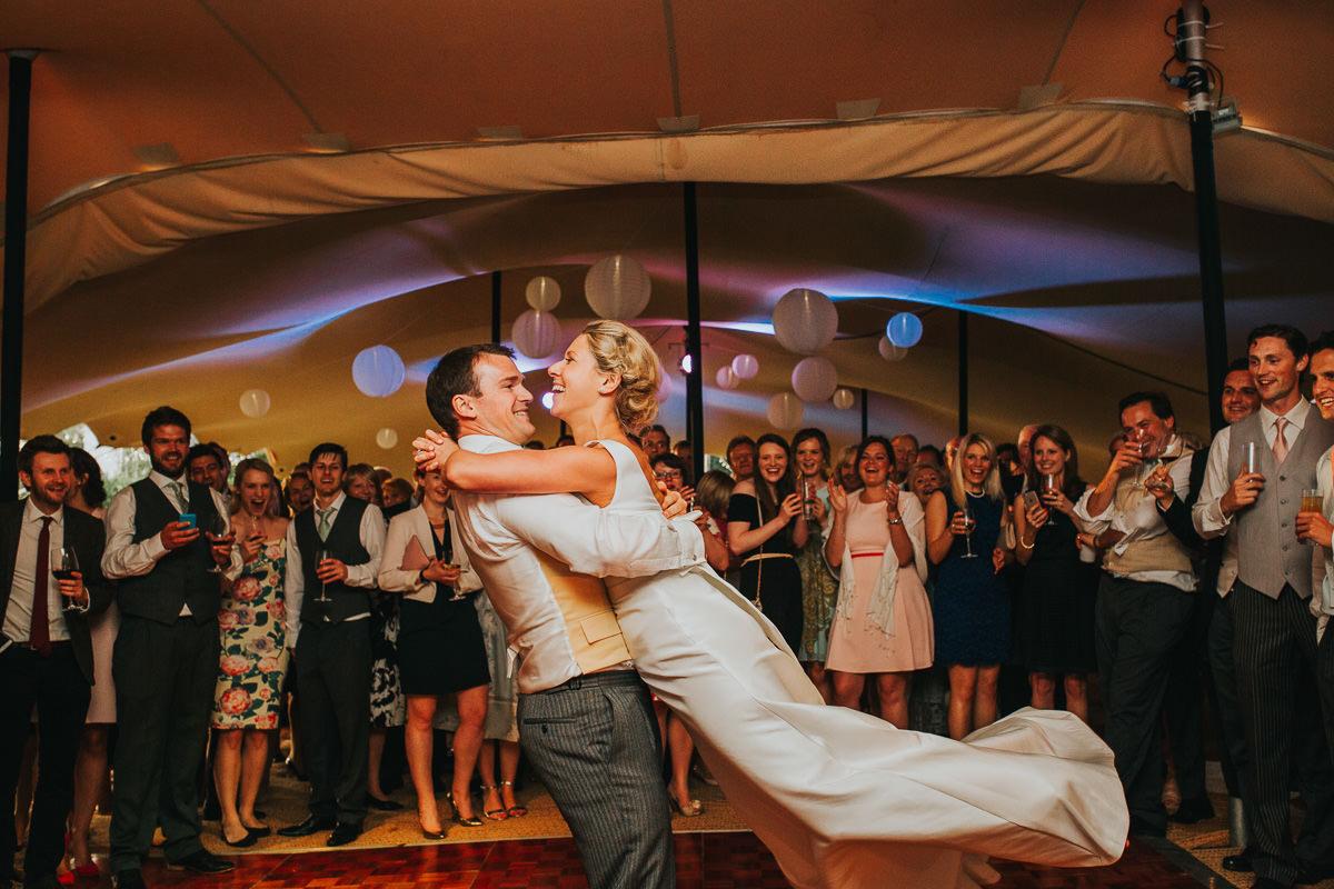 natural first dance tipi wedding photo