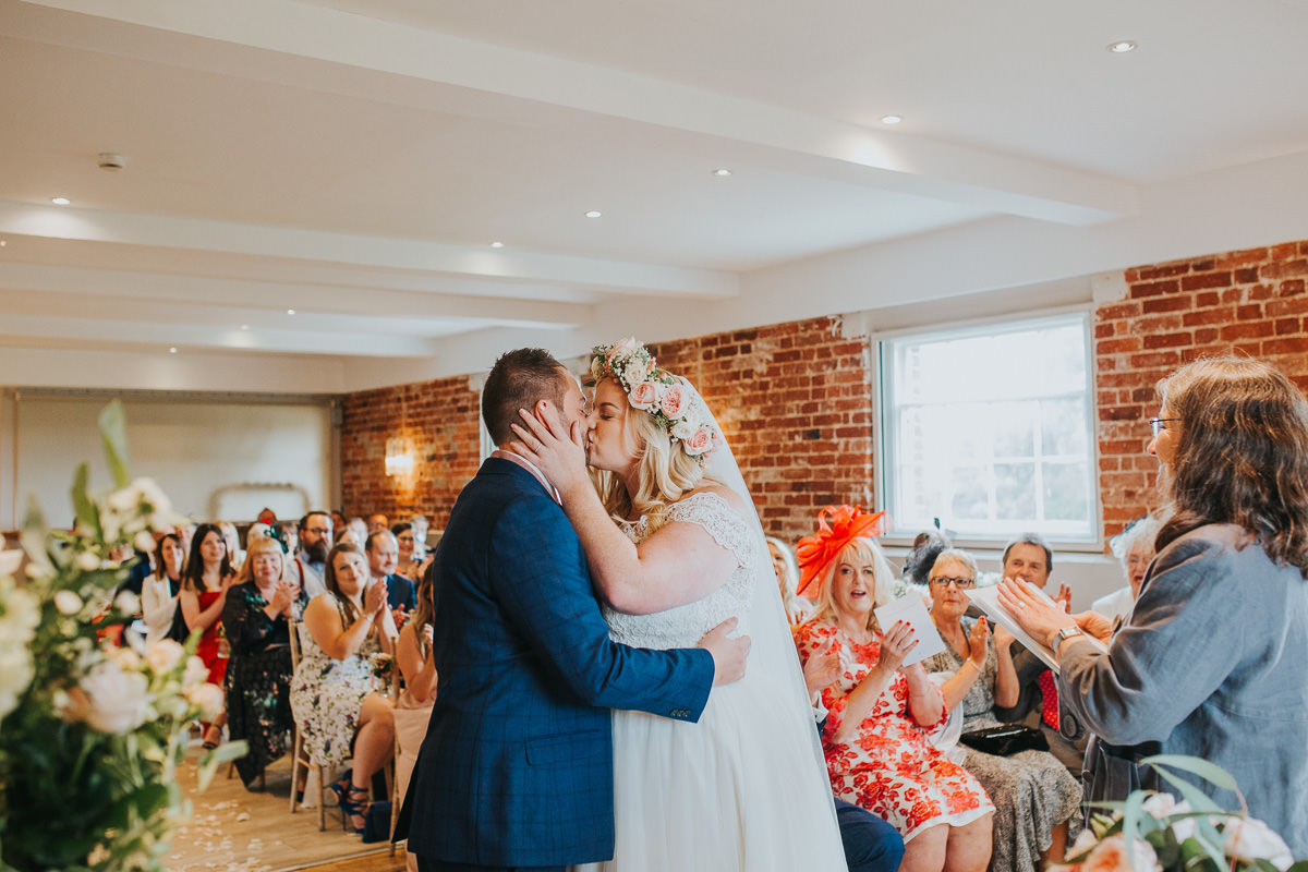 natural wedding ceremony photo