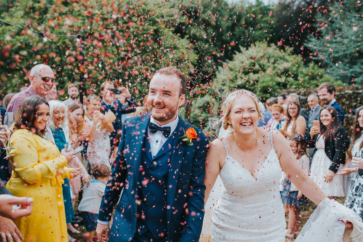 natural wedding confetti photo