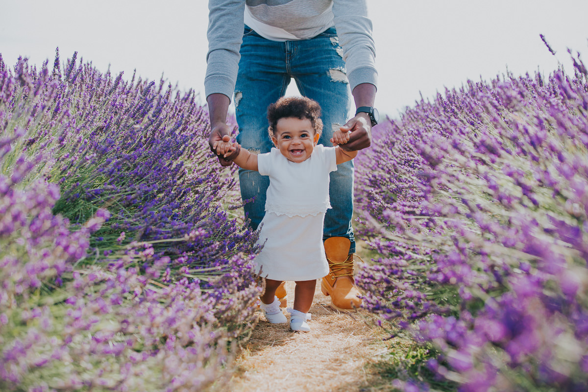 young family lavender field photo