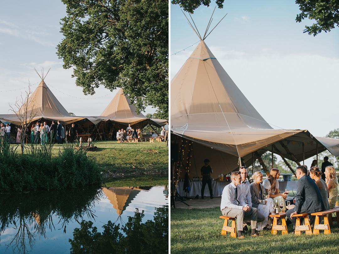 tipi wedding at wootton farm estate