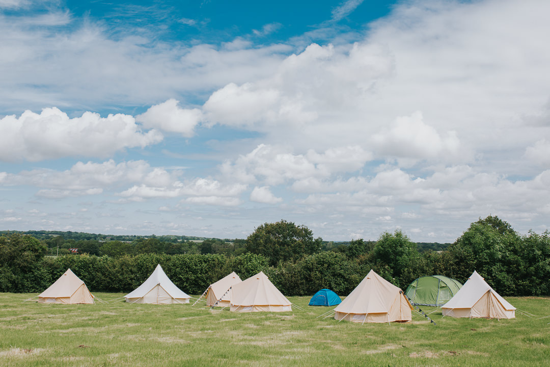 camping field at wootton farm estate