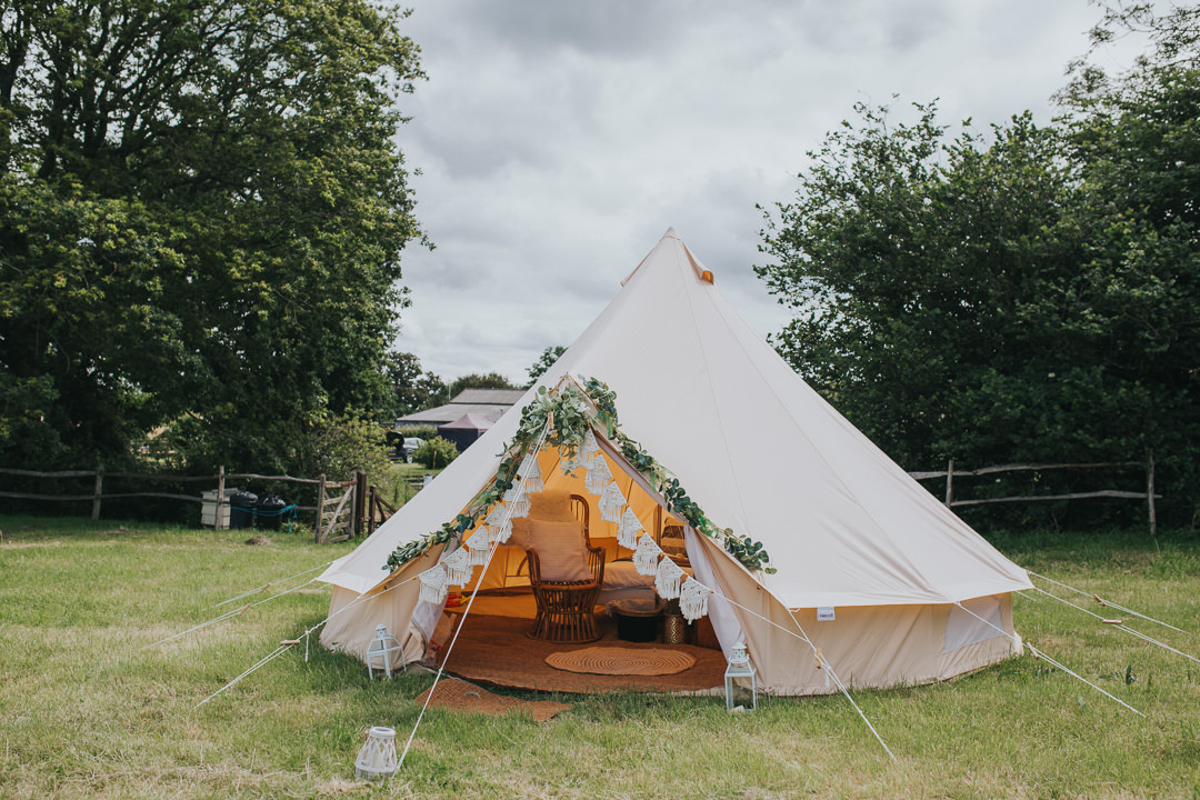 bell tent at wootton farm estate