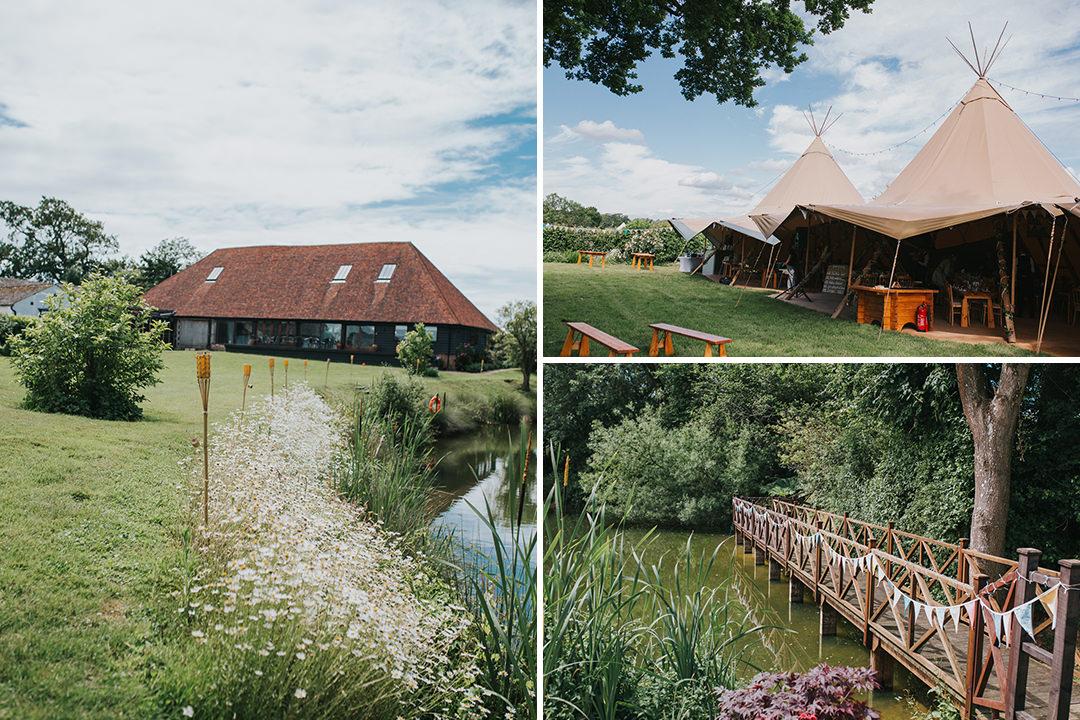 wootton farm estate outside wedding venue