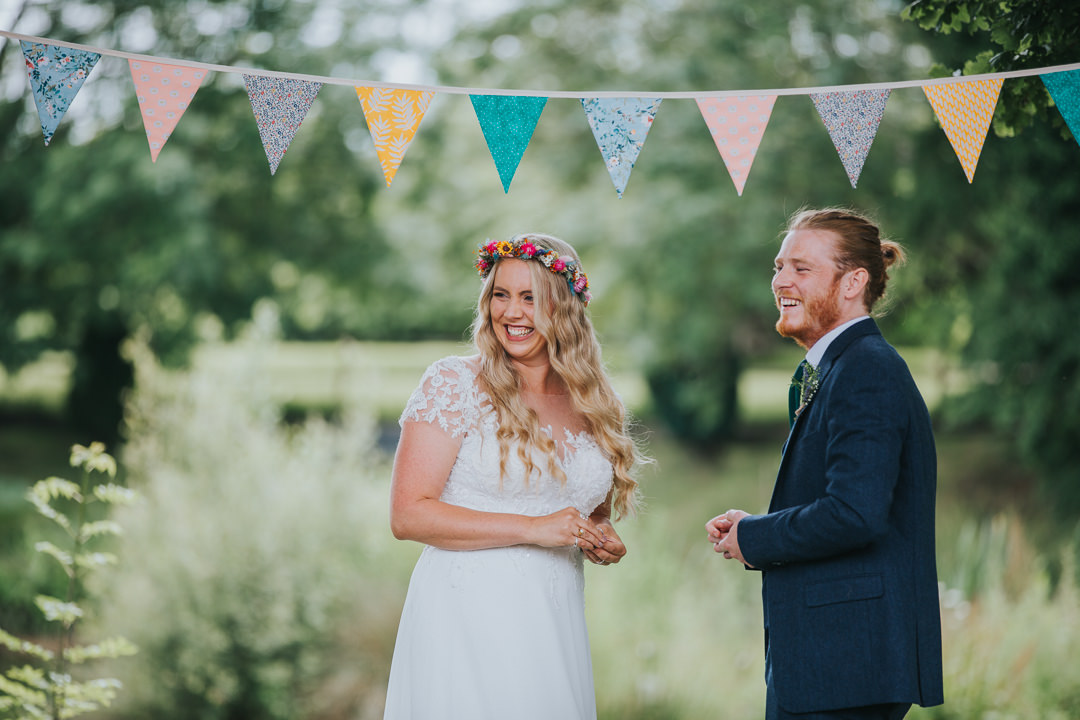 wedding ceremony at wootton farm estate