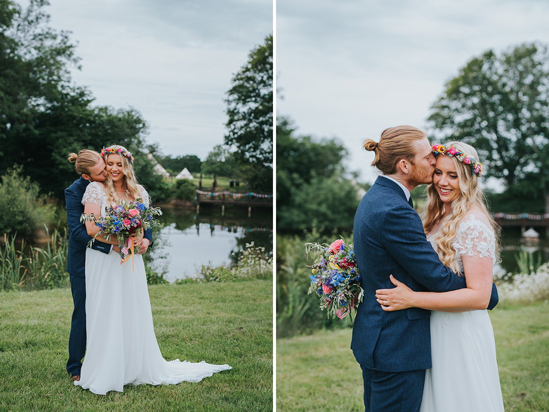 bride and groom photos at wootton farm estate