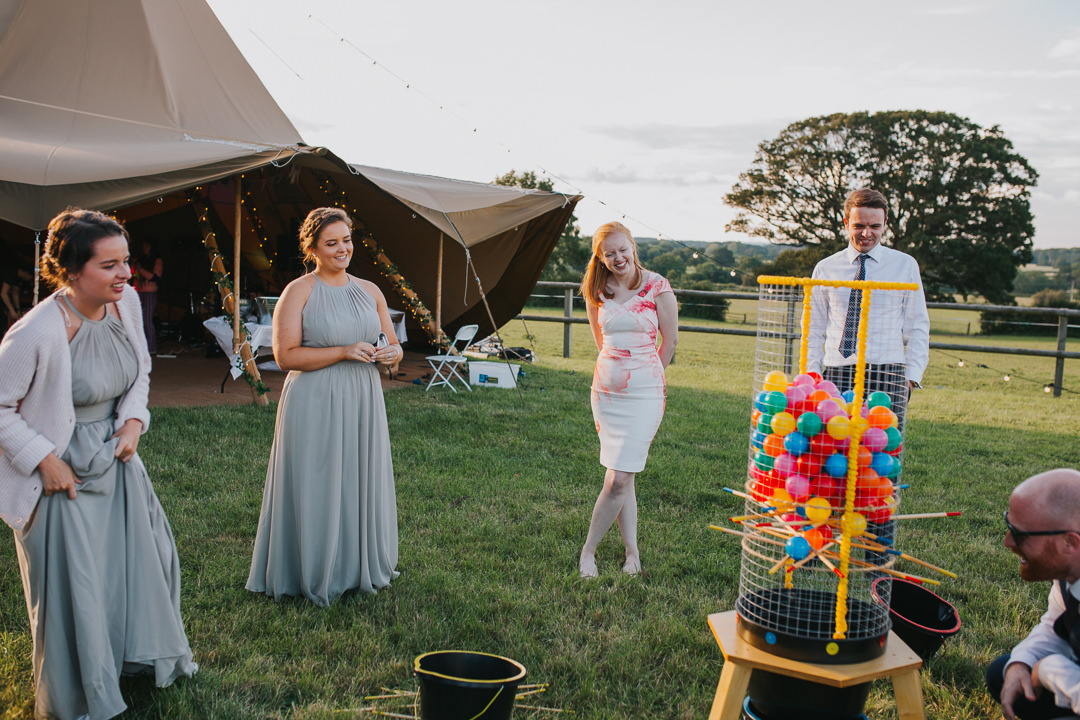 games during outdoor wedding