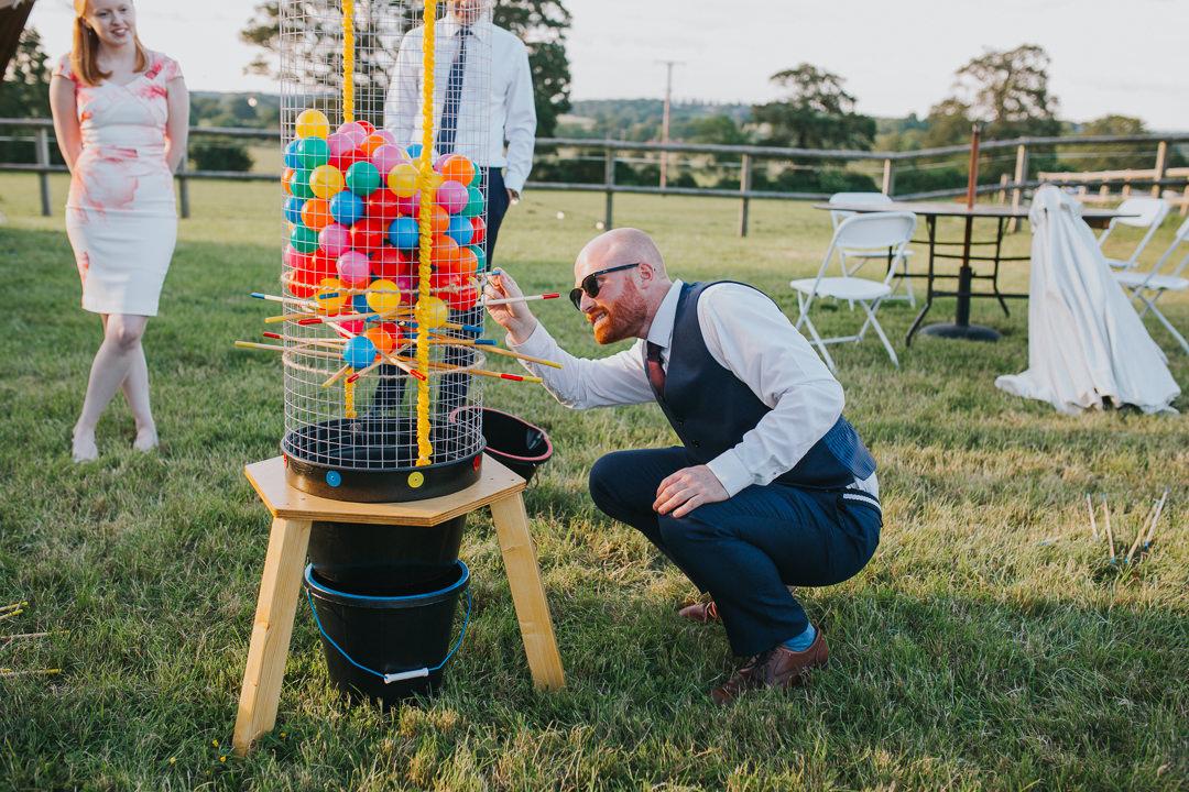 lawn games at outdoor wedding venue