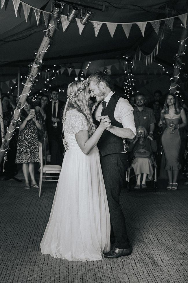 first dance at tipi wedding